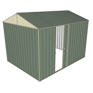 Build-a-Shed 2.3 x 3.0 x 2.3m Gable Single Sliding Side Door Shed - Green
