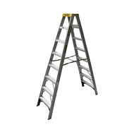 Gorilla 2.4m 150kg Industrial Double Sided Aluminium Ladder