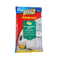 Mr Clean Antibacterial Disinfectant Wipes - 50 Pack