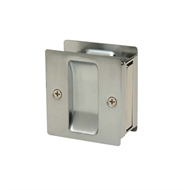 Schlage Satin Chrome Plated VisPack 46-100 Passage Sliding Door Lock