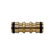 Holman 12mm 2-Way Coupling Brass Hose Fitting Connector