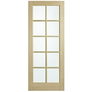 Corinthian Doors 820 x 2040 x 40mm Blonde Oak AWO 40 Translucent Glass Entrance Door