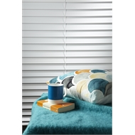 Zone Interiors 63mm Basswood Shutterview Venetian Blind - 1800mm x 1500mm Vivid White
