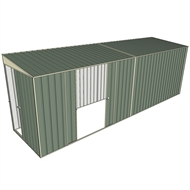 Build-a-Shed 1.5 x 6 x 2m Sliding Door Tunnel Shed with Double Sliding Side Doors - Green
