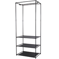 Ezy Storage 3 Tier Clothing Organiser With shelves