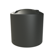 Melro 8000L Poly Round Water Tank - Slate Grey