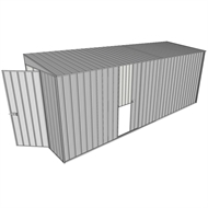Build-a-Shed 1.5 x 5.2 x 2m Hinged Door Tunnel Shed with Sliding Side Door - Zinc