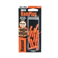 Ramset 6 x 29mm Nylon RamPlug Anchor - 12 Pack