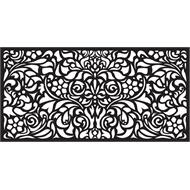 Matrix 1160 x 580mm Charcoal Baroque Wall Art
