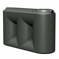 Flexdrive Rotomoulding 1100L Polyethylene Slim Water Tank - Slate Grey