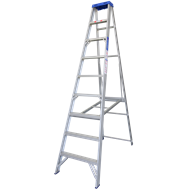 Indalex 2.7m 180kg Aluminium Single Sided Step Ladder