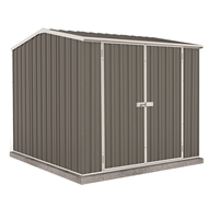 Absco Sheds 2.26 x 2.26 x 2m Double Door Premier Shed - Woodland Grey