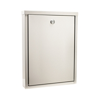 Sandleford Stainless Steel Hopper Wall Mounted Letterbox