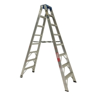 Gorilla 2.4m 120kg Industrial Double Sided Aluminium Step Ladder
