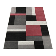 Hufflett 118 x 170cm Antalya Rug - Red / Grey
