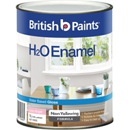 British Paints H2O 1L Gloss Extra Bright Enamel Paint