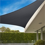Coolaroo 6.5m Graphite Triangle Commercial Grade Shade Sail