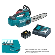 Makita 18V 250mm Bar Cordless Chainsaw Kit