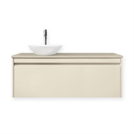 Forme 1200mm Colourstone / Hogsbristle Quay Organic Wall Hung Vanity