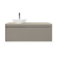 Forme 1200mm Colourstone / Crust Quay Organic Wall Hung Vanity