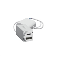 HPM VIVO USB Charger Mechanism Type A&C 4.8a - White