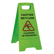 Sabco Green Caution Wet Floor A Frame Sign
