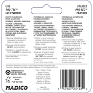 Madico 10mm Clear Vinyl Protec Surface Saver - 12 Pack