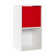 Clever Cube Compact 1 x 2 White Storage Unit