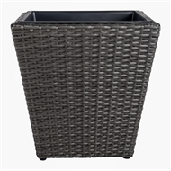 Tuscan Path 46 x 45cm Pewter Poly Rattan Square Pot