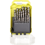 Ryobi Metric High Speed Steel Drill Bit Set - 25 Piece