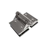 Architects Choice Glass to Glass Hinge Set Stainless Steel