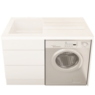 Everhard White Bloom No Tap Hole Laundry Unit