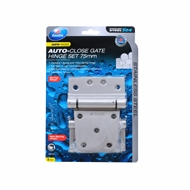 Zenith 75mm Stainless Steel Auto-Close Gate Hinge - 2 Pack