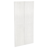 Kaboodle 900mm White Forest Country Pantry Door - 2 Pack