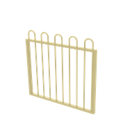 Protector Aluminium 975 x 900mm Loop Top Garden Gate - To Suit Self Closing Hinges - Primrose
