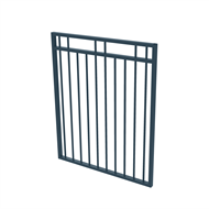 Protector Aluminium 975 x 1200mm Double Top Rail 2 Up 2 Down Gate - To Suit Gudgeon Hinges - Deep Ocean