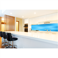 Bellessi 860 x 2600 x 4mm Island Textured Polymer Splashback  - Lifes A Blur