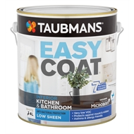 Taubmans Easycoat Low Sheen White Kitchen And Bathroom Paint - 4L