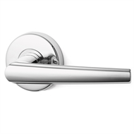Lockwood Spire Velocity Satin Chrome Pearl Passage Set