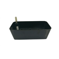 Eden 28cm Charcoal Plastic Self Watering Trough Pot
