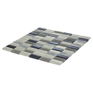 Decor8 Tiles 300 x 300 x 8mm Grey Mix Linear Mosaic Tile