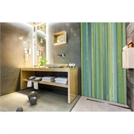 Bellessi 300 x 1200 x 4mm Motiv Polymer Bathroom Panel - Allsorts Green