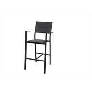 Mimosa Aluminium Lava Padded Bar Chair