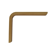 Carinya 175 x 200 x 19 x 15mm Varnished Plywood Angle Bracket