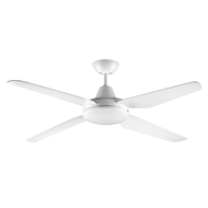 Arlec Matte White 4 ABS Blade Blaise DC Ceiling Fan With Remote Control