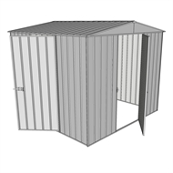 Build-a-Shed 2.3 x 2.3 x 2.3m Dual Hinged Door Shed - Zinc