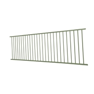 Protector Aluminium 2400 x 900mm Flat Top Fence Panel - Pale Eucalypt