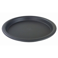 HomeLeisure Charcoal Balconia Round Saucer - 226mm