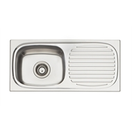 Oliveri 740 x 350mm 3/4 Bowl Martini Inset Sink
