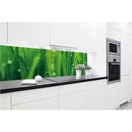 Bellessi 650 x 595 x 5mm Glass Graphic Splashback  - Green Grass
